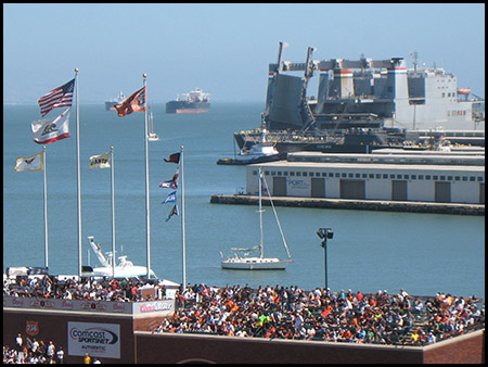 Photo of McCovey Cove near SF Giants ballpark, San Francisco
